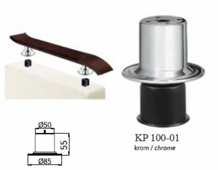 Опора для накладки KP 100-01
